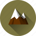 glacier, landscape, mountain, mountains, nature icon