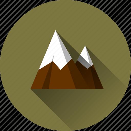 glacier, landscape, mountain, mountains, nature icon