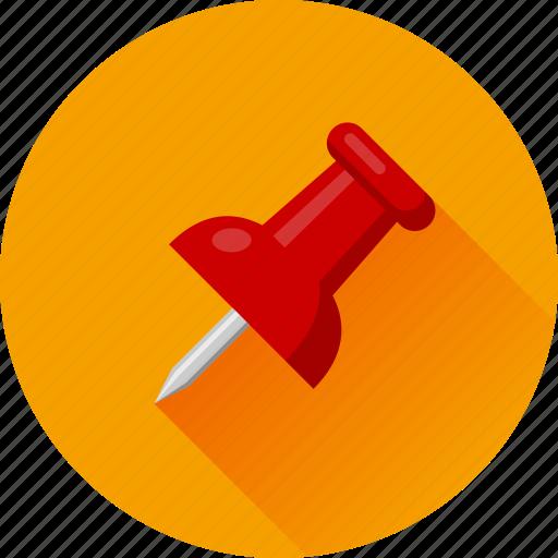 attach, attachment, pin, pushpin, thumbtack icon