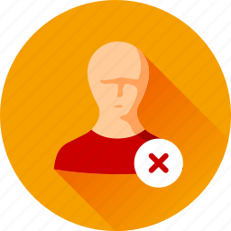 delete, people, person, user icon