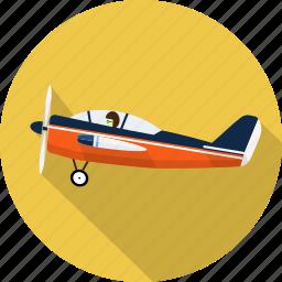 aircraft, airplane, flight, pilot, plane, ship, transport icon