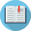 book, bookmark, education, learn, open, paper, read icon