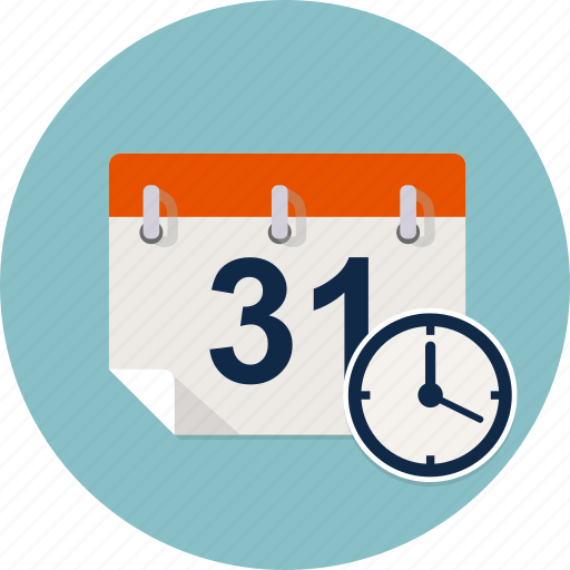 agenda, calendar, clock, date, reminder, time, timer icon