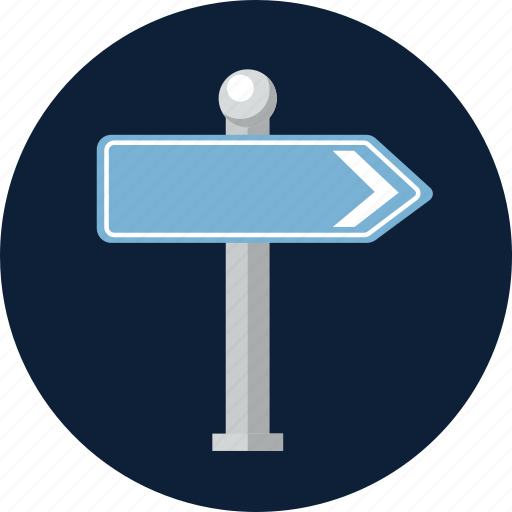 direction, guide, journey, location, road, street, wayfinding sign icon