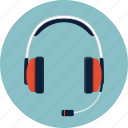 dj, earphone, headphone, headset, microphone, music, sound icon