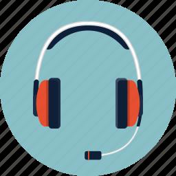 dj, earphone, headphone, headset, microphone, music, sound icon