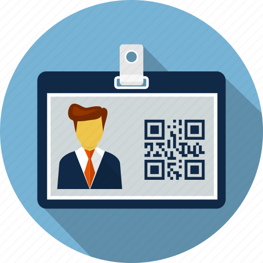 card, id, id card, identity, lanyard, qr code, user icon