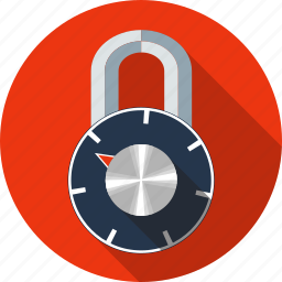 combination padlock, crypted, lock, padlock, password, security icon