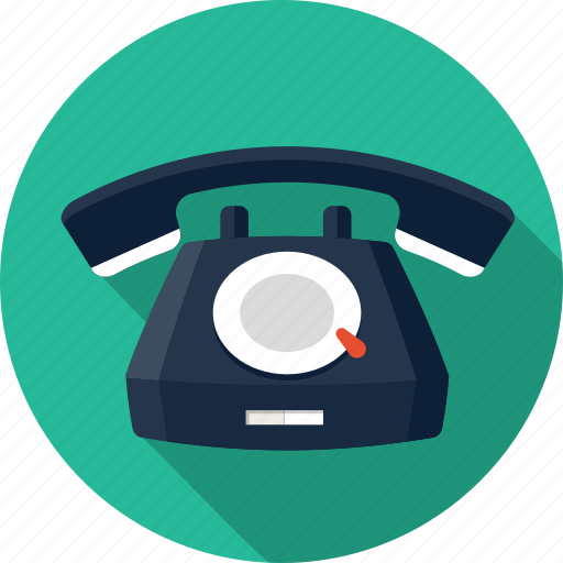 call, contact, help, hotline, phone, rotary, telephone icon
