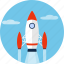 rocket, ship, shuttle, space, spacecraft, spaceship icon