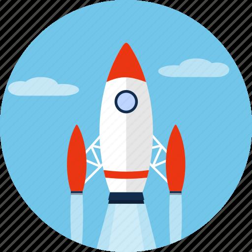 rocket, ship, shuttle, space, spacecraft, spaceship icon