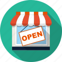 awning, boutique, market, retail, sale, shop, store icon