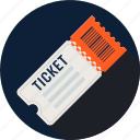 cinema, concert, entry, fare, movie, raffle, ticket icon