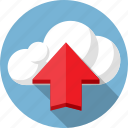 arrow, cloud, data, internet, load, net, upload icon