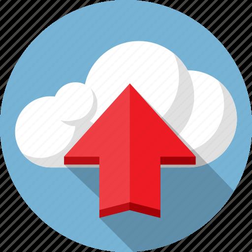 arrow, cloud, data, internet, load, net, upload icon
