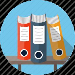 archive, binder, database, file, folder, ring binders icon