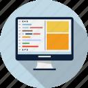 code, coding, editor, html icon
