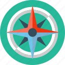 compass, rose, safari, wind icon