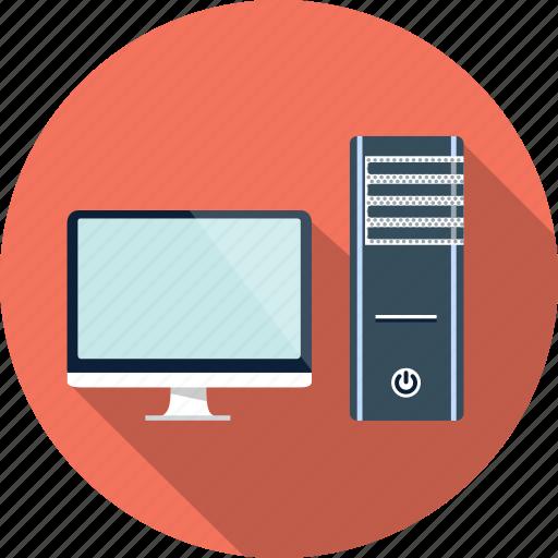 computer, desktop, hardware, monitor, pc icon