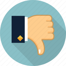 dislike, down, hand, no, thumb, thumb down, unlike icon