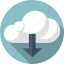 arrow, cloud, down, download icon