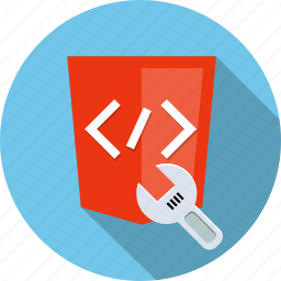 code, fix, html5, preferences, repair, settings, wrench icon