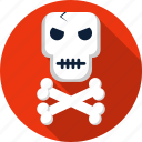 bones, crossbones, danger, death, halloween, skull, warning icon