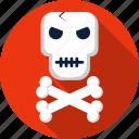 bones, crossbones, danger, death, halloween, skull, warning icon