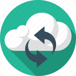 arrows, cloud, refresh, reload, sync, update icon