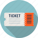 cinema, film, movie, raffle, theater, ticket icon