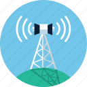 antenna, communication tower, internet, radio, tower, wifi, wireless icon