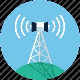 antenna, communication tower, internet, radio, tower, wifi, wireless icon