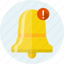 alarm, alert, bell, message, new, notification, reminder icon
