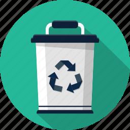 bin, can, dustbin, trash icon