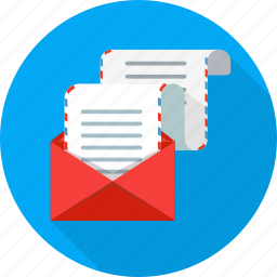 e-mail, email, long, mail, paper icon