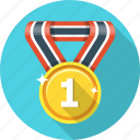 award, badge, first, gold, medal, trophy, victory