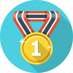 award, badge, first, gold, medal, trophy, victory icon