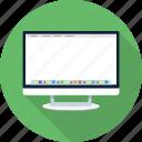 apple, bar, computer, desktop, dock, imac, monitor icon