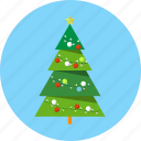 christmas, fir, gift box, lights, tree icon
