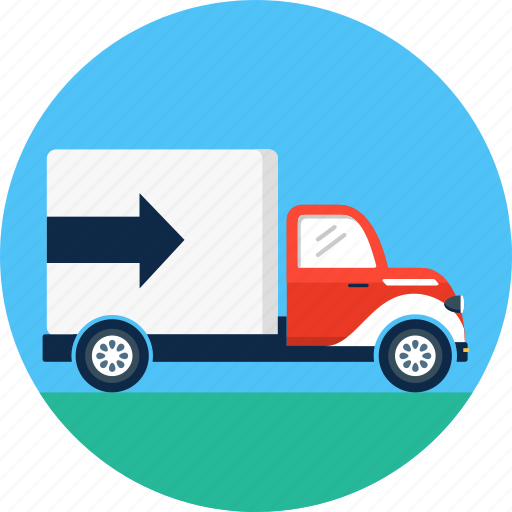 box, cargo, delivery, shipping, transport, truck, van icon