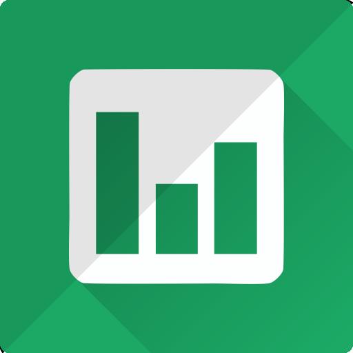 analysis, chart, diagram, docs, finance, google, statistics icon