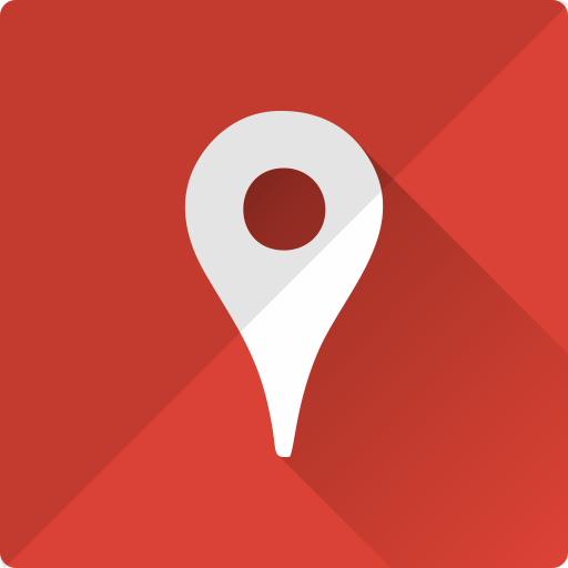 communication, google, logo, maps, place icon