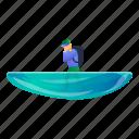 beach, business, disaster, flood, man, water