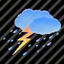 bolt, lighting, nature, storm, summer