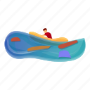 beach, boat, business, flood, man, rubber
