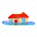 business, flood, hand, home, water