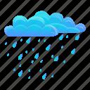 cloud, nature, rainy, summer, water