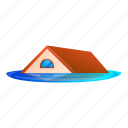 water, flood, house, roof, business, car