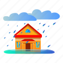 business, flood, house, storm, water