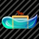 car, dog, flood, garage, water